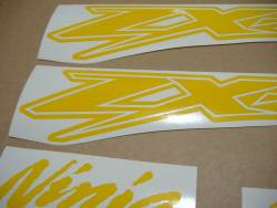 Kawasaki ZX-12R Ninja customized yellow graphics