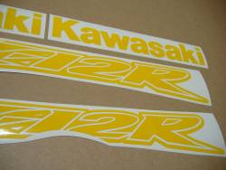 Kawasaki ZX12R Ninja duck medium yellow stickers