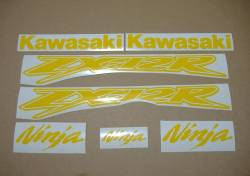 Kawasaki ZX-12R Ninja customized yellow stickers