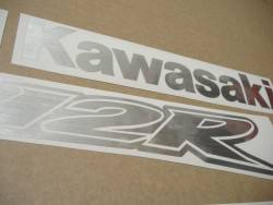 Kawasaki ZX-12R Ninja brushed aluminium grey adhesives