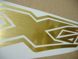 Kawasaki ZX12R Ninja brushed golden stickers