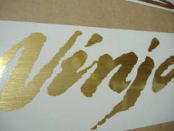 Kawasaki ZX12R Ninja brushed golden adhesives
