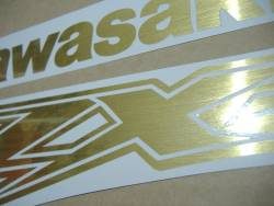 Kawasaki ZX-12R Ninja brushed gold decal set