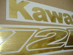 Kawasaki ZX-12R Ninja brushed gold sticker set