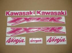 Kawasaki ZX-12R Ninja custom hot pink stickers kit