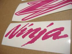 Kawasaki ZX-12R Ninja custom hot pink decals kit