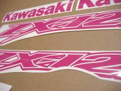 Kawasaki ZX-12R Ninja custom hot pink graphics kit