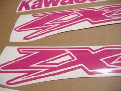 Kawasaki ZX-12R Ninja custom pink adhesives kit