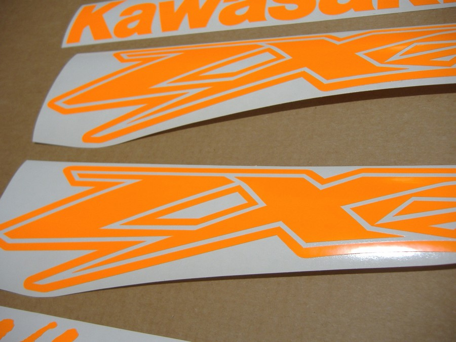 Kawasaki Zx12r Ninja Neon Signal Fluorescent Orange Decals