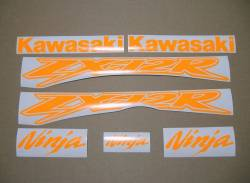 Kawasaki ZX-12R Ninja fluorescent orange decals set