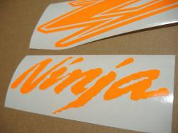 Kawasaki ZX-12R Ninja fluo orange emblems logo set