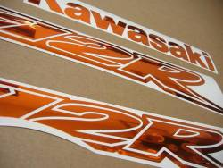 Kawasaki ZX-12R Ninja mirrored chrome orange stickers