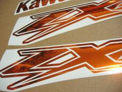 Kawasaki ZX-12R Ninja mirrored chrome orange graphics