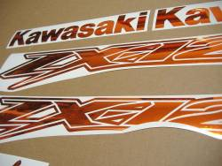 Kawasaki ZX-12R Ninja mirrored chrome orange adhesives
