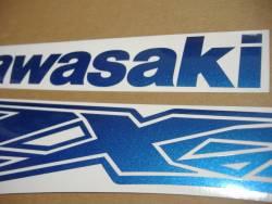 Kawasaki ZX-12R Ninja metallic blue sticker set