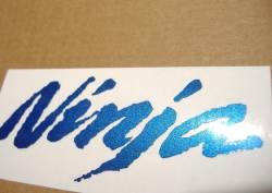 Kawasaki ZX-12R Ninja metallic blue graphics set
