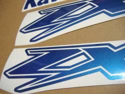 Kawasaki ZX-12R Ninja pearl blue stickers