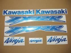 Kawasaki ZX-12R Ninja pearl blue decals