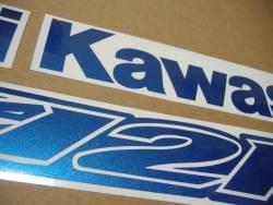 Kawasaki ZX-12R Ninja pearl blue logo graphics