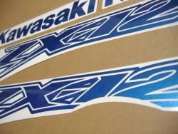 Kawasaki ZX-12R Ninja metallic blue decal set