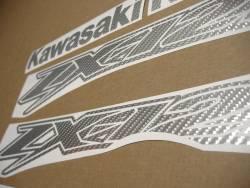 Kawasaki ZX-12R Ninja silver carbon fiber stickers