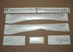 Kawasaki ZX-12R Ninja silver carbon fiber decals