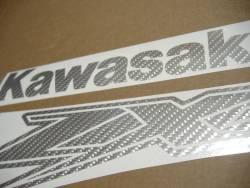 Kawasaki ZX-12R Ninja grey carbon fiber sticker set