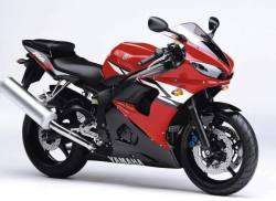 Yamaha R6 2004 RJ05 RJ09 red stickers