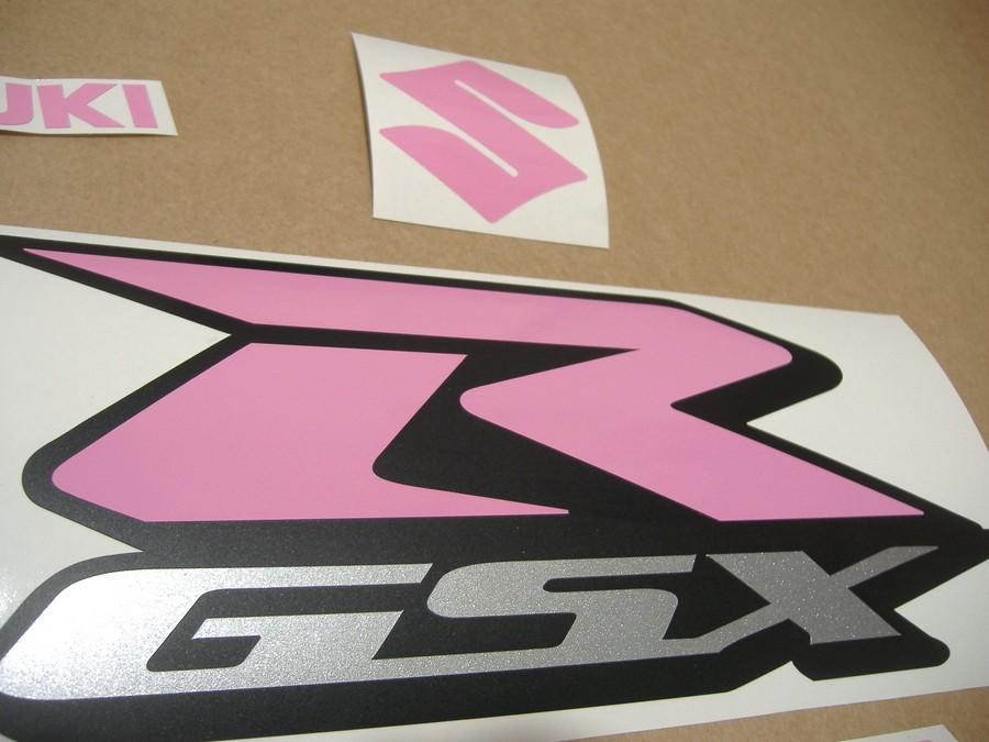 Suzuki GSXR 750 2001-2008 (K4-K7) soft pink logo decals set - Moto-Sticker.com
