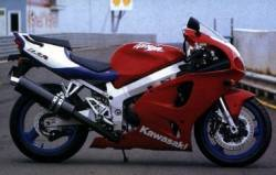 Kawasaki ZX-7R Ninja 1997-1998 red decals set
