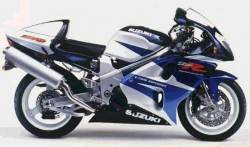 Suzuki TL1000R 1998 V-twin white/blue stickers kit