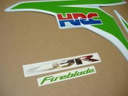 Honda CBR Fireblade lime green HRC 2011 decals set