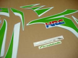 Honda CBR 1000RR lime green HRC 2011 logo graphics