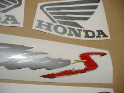 Honda CB 600S Hornet 2003-2004 silver decal set