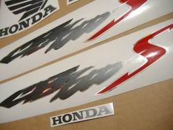 Honda CB600S Hornet S 2003 silver grey stickers