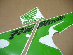 Honda CBR 929RR 2000-2001 poison lime green adhesives