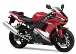Yamaha R6 2005 RJ05 red full decals kit