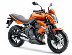 Kawasaki ER6N 650 ex-6 ninja orange emblems logo set