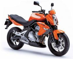 Kawasaki ER-6N 650 ex-6 naked 2008 orange stickers