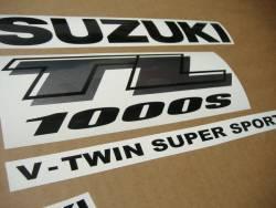 Suzuki TL 1000s 1999-2000 V-twin yellow decal kit