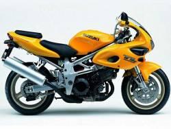 Suzuki TL1000s 1999-2000 V-twin yellow decals set