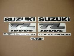 Suzuki TL1000s 1999-2000 V-twin yellow emblems logo set