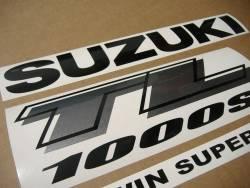 Suzuki TL1000s 1999-2000 V-twin yellow graphics set
