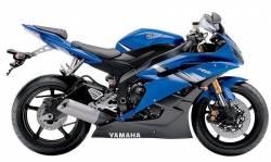 Yamaha YZF-R6 2006 RJ11 blue US stickers set