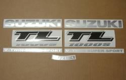 Suzuki TL 1000s 1999-2000 V-twin red decal kit