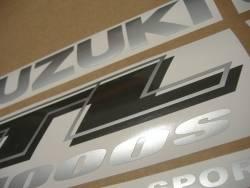 Suzuki TL1000s 1999-2000 V-twin red adhesives