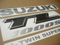 Suzuki TL1000s 1999-2000 V-twin red emblems logo set