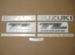 Suzuki TL 1000s 2000-2001 V-twin black decal kit