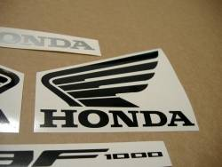 Honda CBF 1000 2010-2011 white emblems logo set