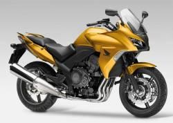 Honda CBF 1000 2010-2011 gold emblems logo set
